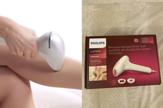 Epilatore a luce pulsata Philips